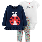 Carter's Infant Girls 3 pc. Lady Bug Pants Set