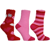 Betsey Johnson Cozy Red Heart Slipper Socks 3 pk.