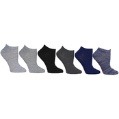 Betsey Johnson Random Feed and Solid Multicolored Low Cut Socks 6 pk.