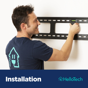 HelloTech TV Mounting Up to 60 in. Plus External Cord Masking with Parts