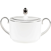 Vera Wang Wedgwood Blanc Sur Blanc Covered Sugar Bowl