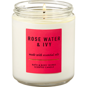 Bath & Body Works Single Wick Candle, Rosewater & Ivy