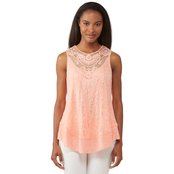 JW Crochet Bib Lace Tank Top