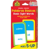 School Zone Bilingual Basic Sight Words Flash Cards