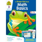 School Zone Math Basics Grade 2 Press Out Workbook