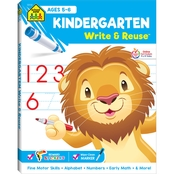School Zone Kindergarten Write and Reuse Workbook