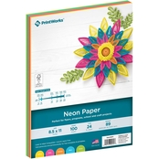 Printworks Professional Bright Colored Paper, 24 lb. 4 Assorted Colors, 100 Sheets