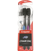 Colgate 360 Charcoal Manual Soft Toothbrush 2 pk.