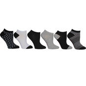 Betsey Johnson Low Cut Multicolored Socks 6 pk.