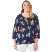 Michael Kors Plus Size Blooming Bouquet Peasant Top