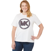 Michael Kors Plus Size Circle Logo Summer Camp Tee