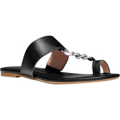 COACH Jaimee C Chain Leather Sandals