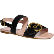 COACH Jen C Buckle Leather Sandals
