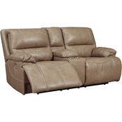 Signature Design by Ashley Ricmen Power Reclining Loveseat with Adjustable Headrest