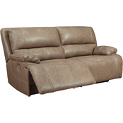 Signature Design by Ashley Ricmen Power Reclining Sofa with Adjustable Headrests