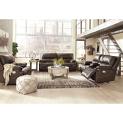 Signature Design by Ashley Ricmen 3 pc. Power Reclining Sofa, Loveseat and Recliner