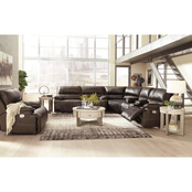 Signature Design by Ashley Ricmen 4 pc. Power Sectional with Adjustable Headrests