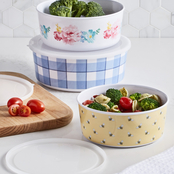 Martha Stewart Collection Nesting Containers and Lids 6 pc. Set