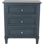 Decor Therapy Beckett 3 Drawer Side Table