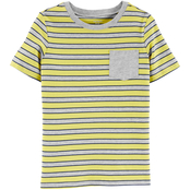 Carter's Little Boys Striped Pocket Jersey Tee
