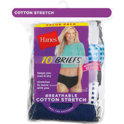 Hanes Breathable Cotton Stretch Brief Panty