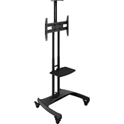 Kanto MTM65PL Height Adjustable Rolling TV Stand for 37 in. - 65 in. TVs
