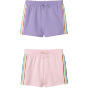 Gumballs Infant Girls French Terry Shorts 2 pk.