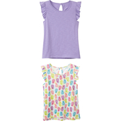 Gumballs Infant Girls Flutter Sleeve Tee 2 Pk.