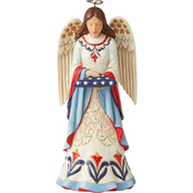 Jim Shore Heartwood Creek Angel with Flag Figurine