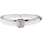 Vince Camuto Asscher Cut Button Hinge Bangle