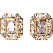 Vince Camuto Asscher Cut Stud Earrings