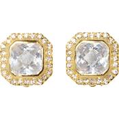 Vince Camuto Goldtone Cushion Cut Clip Earring