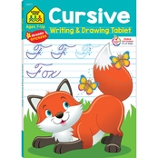 School Zone Cursive Writing and Drawing Tablet Workbook