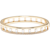 Vince Camuto Thin Button Hinge Baguette Bangle