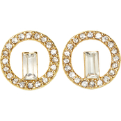 Vince Camuto Crystal Baguette Stud Earrings