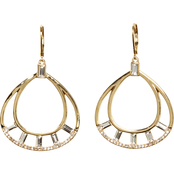 Vince Camuto Crystal Baguette Hoop Earrings