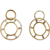 Vince Camuto Crystal Baguette Double Hoop Earrings