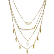 Panacea Faux Druzy Four Row Necklace