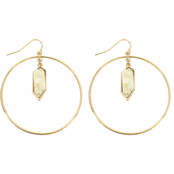Panacea Faux Druzy Hoop Drop Earrings