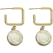 Panacea Faux Druzy Square Post Earrings