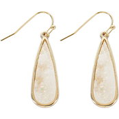 Panacea Faux Druzy Teardrop Earrings