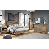 Signature Design by Ashley Rusthaven Panel Bed 5 pc. Bedroom Set
