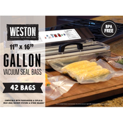 Weston Vac Sealer Bags, 11 x 16 in. Gallon 42 ct.