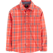OshKosh B'gosh Little Boys Plaid Button Front Shirt