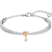 Swarovski Two Tone Lifelong Heart Bangle