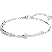 Swarovski Rhodium Lifelong Heart Bangle