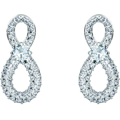Swarovski Rhodium Plated Infinity Earrings