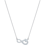 Swarovski Rhodium Plated Infinity Necklace