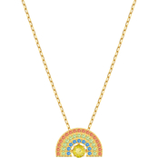 Swarovski Goldtone Sparkling Dance Rainbow Necklace