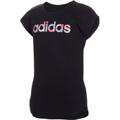 adidas Girls Slit Tee